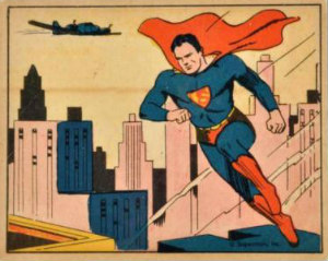 1940 Superman Gum Card 1