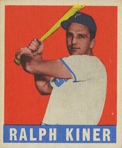 Top 10 Ralph Kiner Baseball Cards 9
