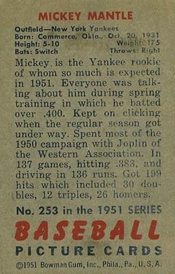 1951 Bowman Baseball Cards 2