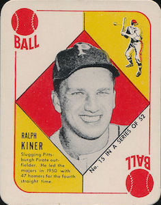 1951 Red Backs Ralph Kiner