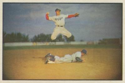 1953 Bowman Baseball Color pee wee reese