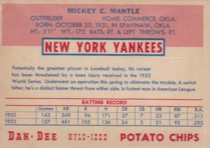 1954 Dan-Dee Baseball Cards 2