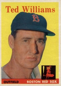 1958 Topps Baseball Ted Williams
