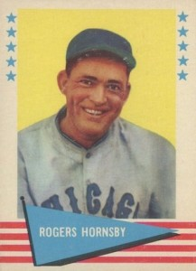 1961 Fleer Baseball Greats Rogers Hornsby #43