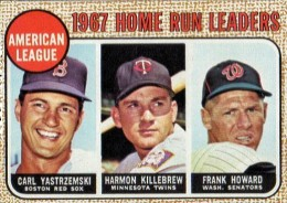1968 Topps Carl Yastrzemski Harmon Killebrew Frank Howard #6