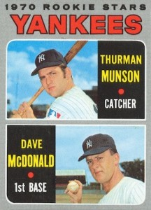 1970 Topps Baseball Thurman Munson RC