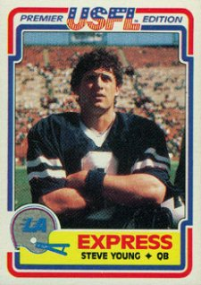 1984 Topps USFL Football Steve Young