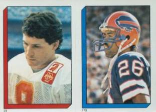 1986 Topps Football Stickers Steve Young