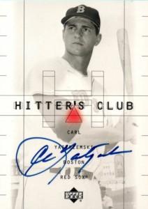 1999 Upper Deck Hitters Club Carl Yastrzemski Autograph