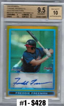 Top 10 eBay Baseball Card Sales: Freddie Freeman 11