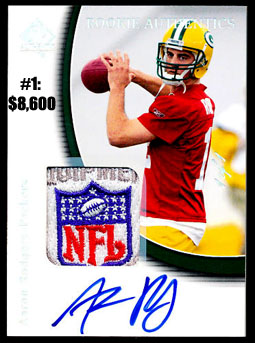 Top 10 eBay Football Card Sales: Aaron Rodgers 11