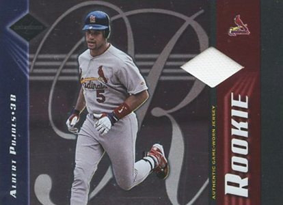 2001 Leaf Limited Albert Pujols RC Jersey