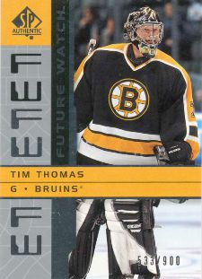 Tim Thomas Hockey Cards: Rookie Cards Checklist and Buying Guide 8