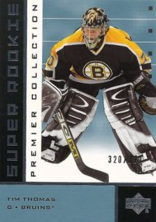 2002-03 Upper Deck Premier Collection Tim Thomas (/399)