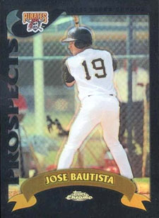 2002 Topps Chrome Traded Black Refractors Jose Bautista