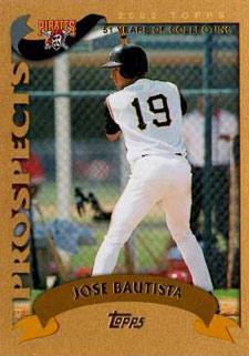 2002 Topps Traded Gold Jose Bautista
