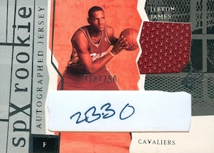 2003-04 SPx LeBron James RC