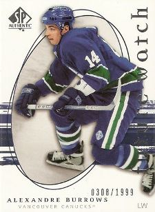 Alexandre Burrows Hockey Cards: Rookie Cards Checklist and Buying Guide 1