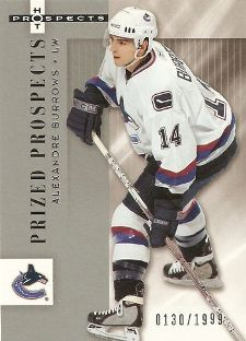 2005-06 Upper Deck Hot Prospects Alexandre Burrows Rookie Card (/1999)