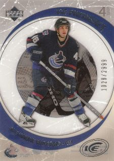 2005-06 Upper Deck Ice Alexandre Burrows Rookie Card (/2999)