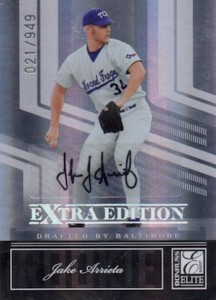 2007 Donruss Elite Extra Edition Jake Arrieta #102 Autograph