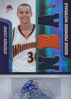 2009-10 Panini Absolute Stephen Curry RC Autographed Jersey