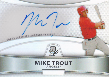 2010 Bowman Platinum Autographs Mike Trout