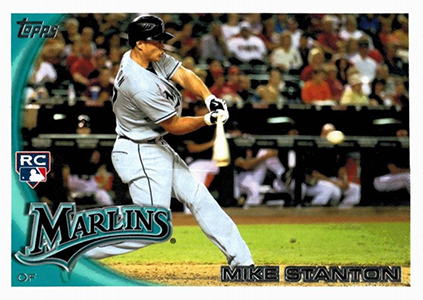 2010 Topps Updates and Highlights Mike Stanton RC