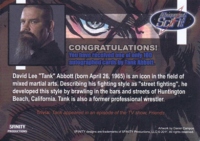 Tank Abbott and Herb Dean Autograph Cards from 5finity 4