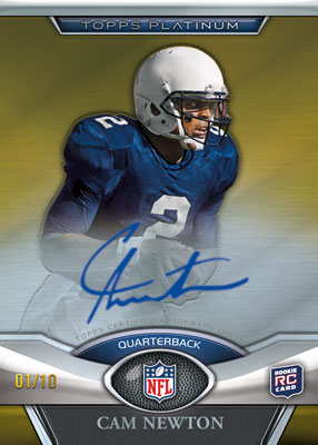 2011 Topps Platinum Football 1