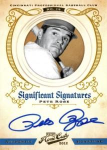 2012 Panini Prime Cuts Pete Rose Autograph