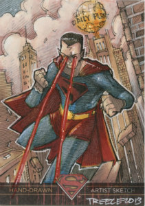 2013 Crytpozoic Superman Sketch Card