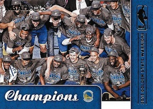 2015-16 Panini NBA Hoops Basketball Golden State Warriors Champions
