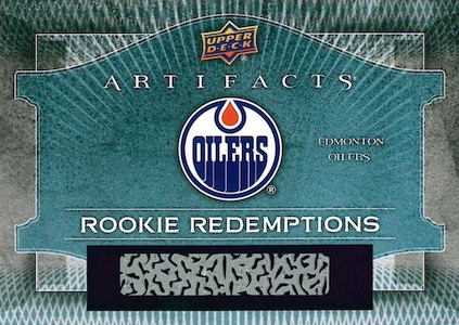 2015-16 Upper Deck Artifacts Hockey Cards - Final Rookie Redemption Checklist 23