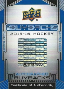 2015-16 Upper Deck Buybacks Hockey Cards 20