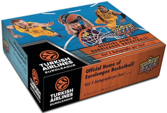 2015-16 Upper Deck Euroleague Basketball Box