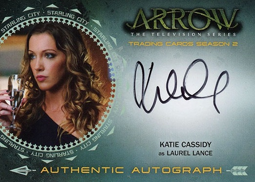 2015 Cryptozoic Arrow Season 2 Autographs Katie Cassidy