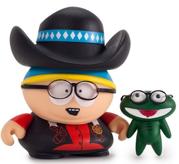 2015 Kidrobot South Park Many Faces Cartman Mini Vinyl Figures cow boy