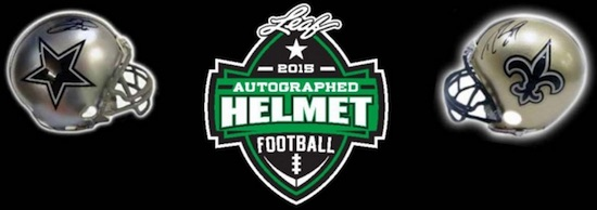 2015 Leaf Autographed Helmet Football 1