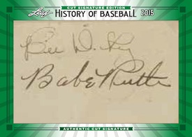 2015 Leaf History of Baseball Cut Signature Edition Babe Ruth