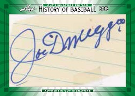 2015 Leaf History of Baseball Cut Signature Edition dimaggio