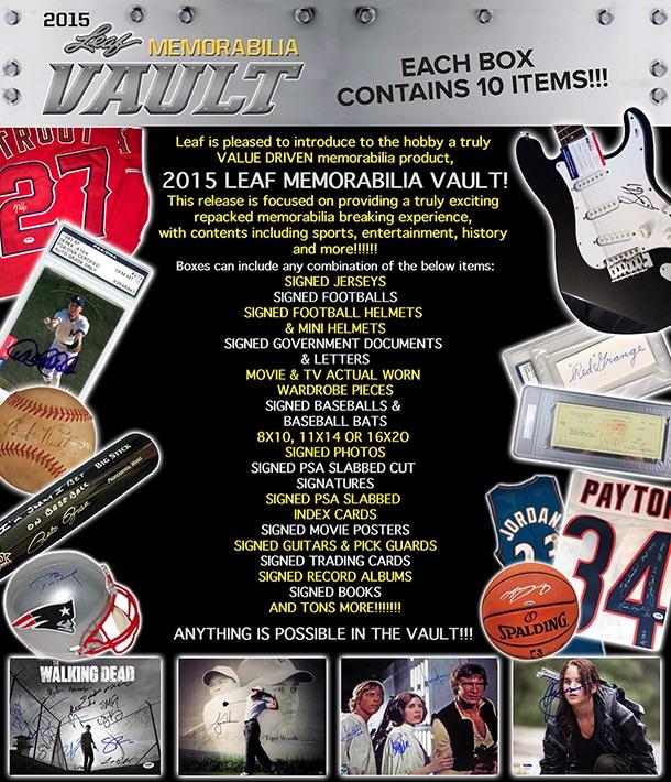 2015 Leaf Memorabilia Vault main