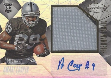 2015 Panini Certified Amari Cooper RC #226 Autographed Jersey