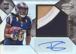 2015 Panini Certified Todd Gurley RC #239 Autographed Jersey