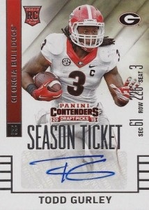 2015 Panini Contenders Draft Picks Season Ticket Todd Gurley Autograph
