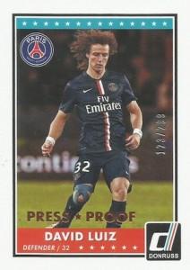 2015 Panini Donruss Soccer Base Luiz Press Proof