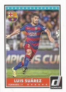 2015 Panini Donruss Soccer Base Suarez