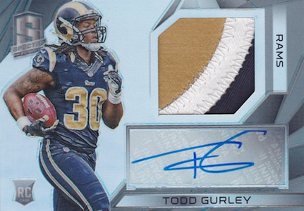 2015 Panini Spectra Todd Gurley RC Autographed Jersey