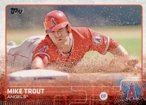 2015 Topps Baseball Base 300 Mike Trout