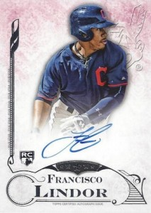 2015 Topps Five Star Base Autograph Francisco Lindor RC